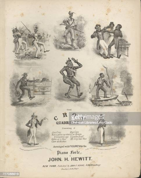 Sheet music cover image of the song 'the Crow Quadrilles Jim Crow Sich a Gittin Up Stairs Sittin on a Rail Clare de Kitchin Dinah Waltz' with...