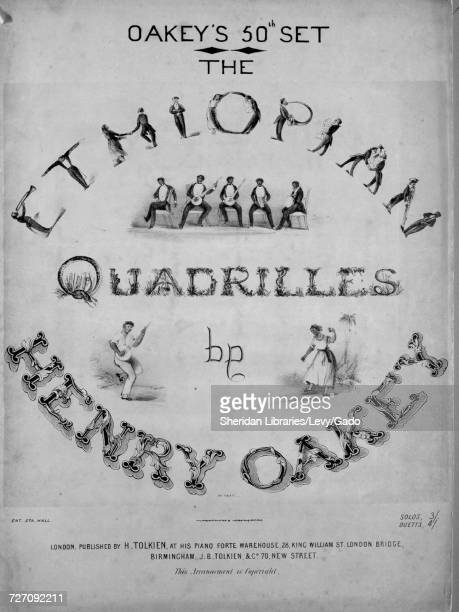 Sheet music cover image of the song 'the Ethiopian Quadrilles Air 'Buffalo Gals' Air 'Lucy Long' Air 'Sun Go Down Up Come De Moon' Air 'Lucy Neal' La...