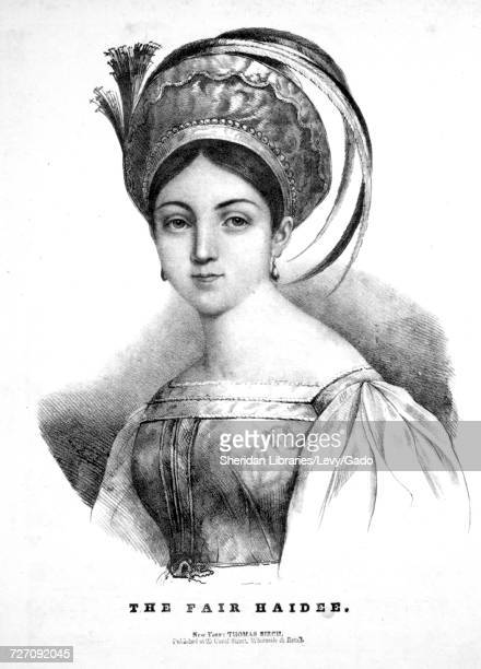 Sheet music cover image of the song 'the Fair Haidee A Favorite Albanian Melody' with original authorship notes reading 'the Poetry by Lord Byron...