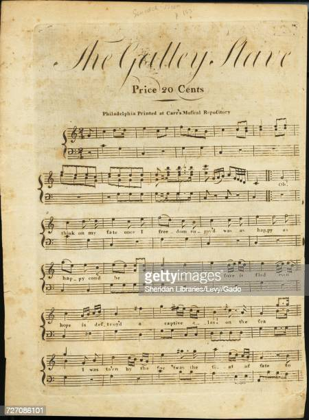 Sheet music cover image of the song 'the Galley Slave' with original authorship notes reading 'na' United States 1900 The publisher is listed as...