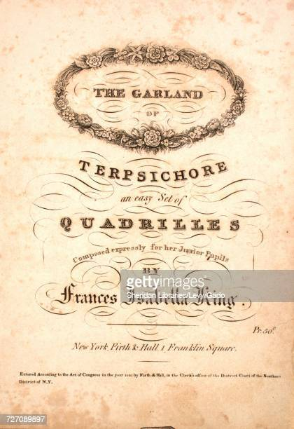 Sheet music cover image of the song 'the Garland of Terpsichore An easy Set of Quadrilles The Hair Bell The Forget Me Not The Snow Drop The Narcissus...