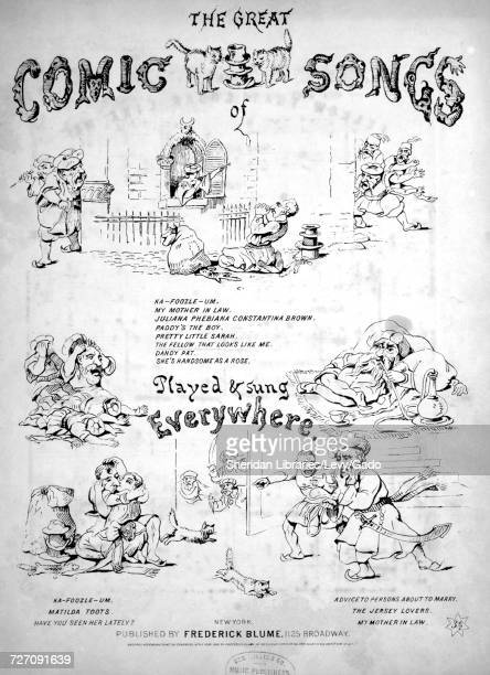 Sheet music cover image of the song 'the Great Comic Songs The Fellow That Looks Like Me' with original authorship notes reading 'JF Poole' United...