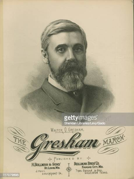 Sheet music cover image of the song 'the Gresham March' with original authorship notes reading 'music by S Francis ' 1890 The publisher is listed as...