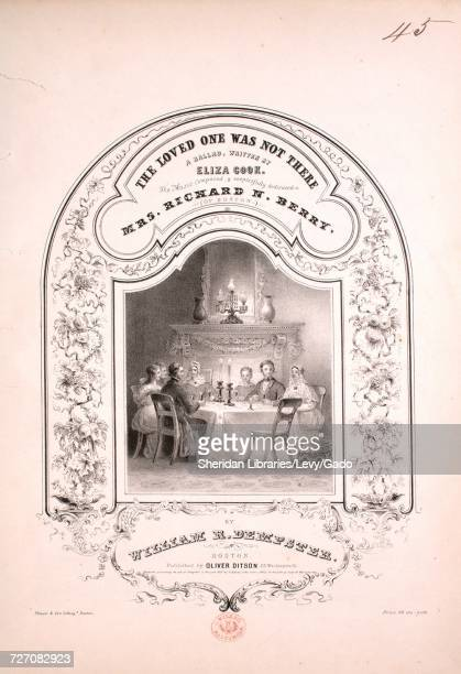 Sheet music cover image of the song 'the Loved One Was Not There A Ballad' with original authorship notes reading 'Written by Eliza Cook The Music...