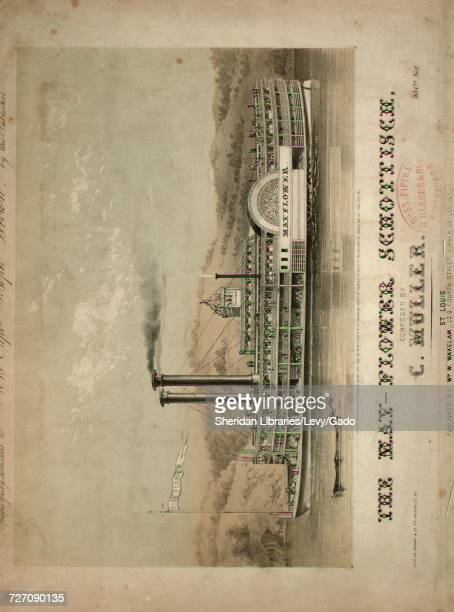 Sheet music cover image of the song 'the MayFlower Schottisch' with original authorship notes reading 'Composed by C Muller' 1855 The publisher is...