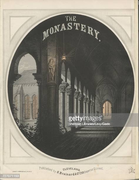Sheet music cover image of the song 'the Monastery' with original authorship notes reading 'Brinley Richards' United States 1900 The publisher is...