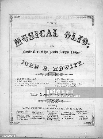 Sheet music cover image of the song 'the Musical Olio, or, Favorite