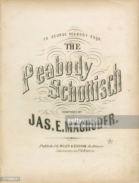 Sheet music cover image of the song 'the Peabody Schottisch' with original authorship notes reading 'Composed By Jas E Magruder' United States 1857...