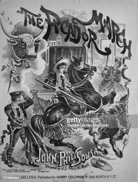 Sheet music cover image of the song 'the Picador March' with original authorship notes reading 'Composed by John Philip Sousa Director of US Marine...
