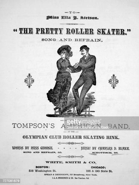 Sheet music cover image of the song 'the Pretty Roller Skater' Schottisch' with original authorship notes reading 'music by Charles D Blake' United...