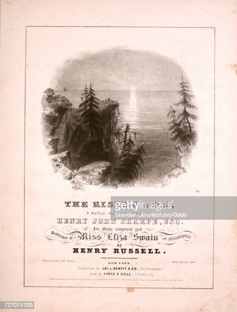 Sheet music cover image of the song 'the Rising Sung A Ballad' with original authorship notes reading 'the Words Written by Henry John Sharpe Esq The...