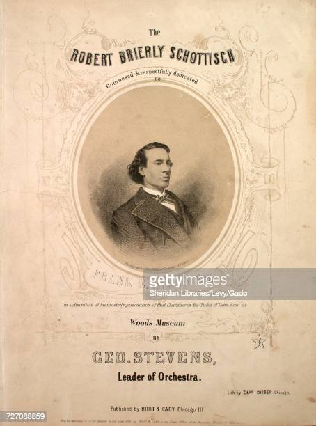 Sheet music cover image of the song 'the Robert Brierly Schottisch' with original authorship notes reading 'Composed by Geo Stevens Leader of...