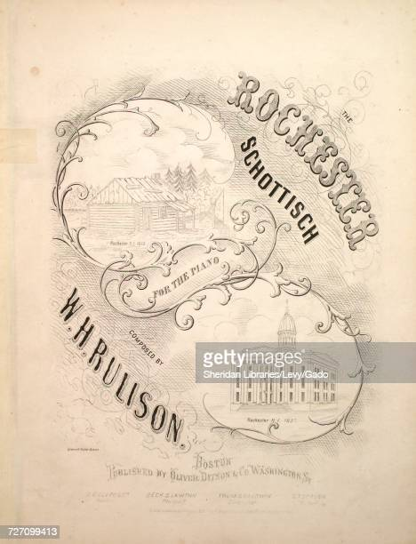 Sheet music cover image of the song 'the Rochester Schottisch for the Piano' with original authorship notes reading 'Composed by WH Rulison' United...