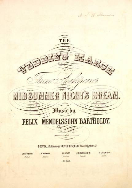 Sheet Music Cover Image Of The Song Wedding March From Shakespeare S Midsummer Night Dream