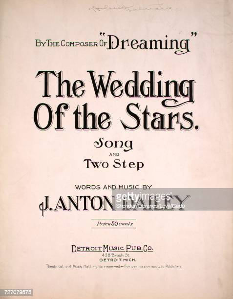 Sheet Music Cover Image Of The Song Wedding Stars And Two