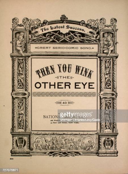 Sheet music cover image of the song 'then You Wink the Other Eye The Latest Success Grate SerioComic Song' with original authorship notes reading...