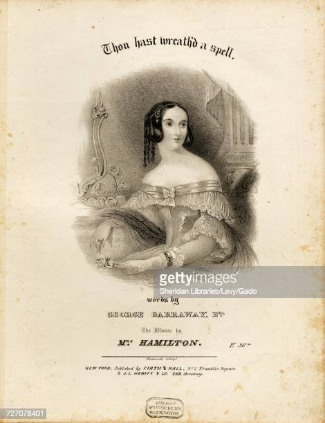 Sheet music cover image of the song 'thou Hast Wreath'd a Spell' with original authorship notes reading 'Words by George Garraway Esq The Music by...