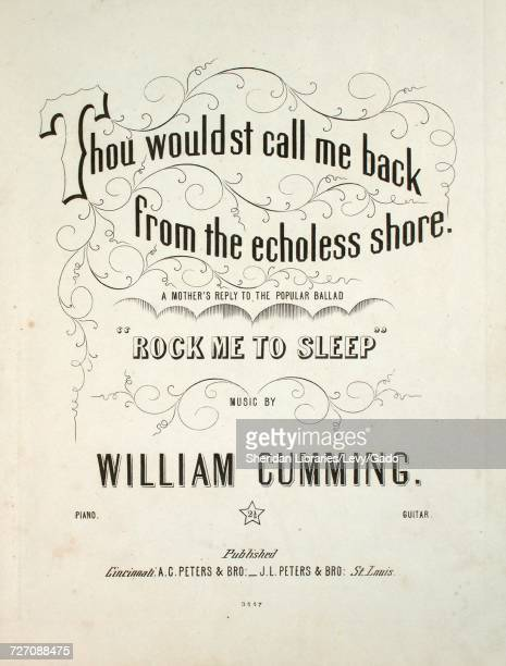 Sheet music cover image of the song 'thou Wouldst Call Me Back From the Echoless Shore A Mother's Reply to the Popular Ballad 'Rock Me To Sleep''...