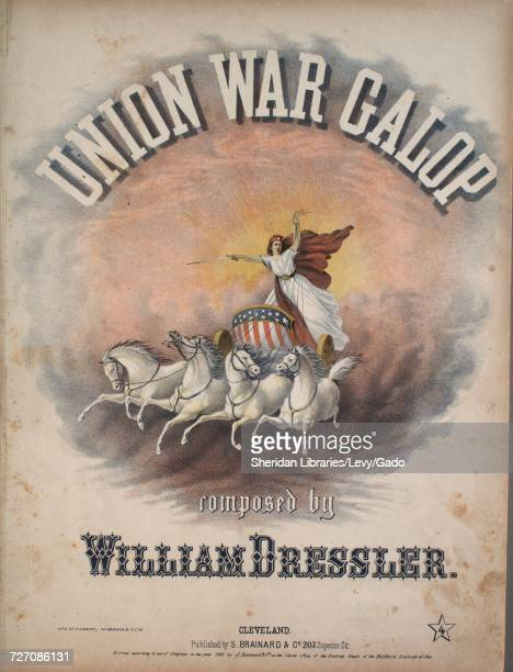 Sheet music cover image of the song 'Union War Galop Introducing the Liberty Duett From I Puritani' with original authorship notes reading 'Composed...