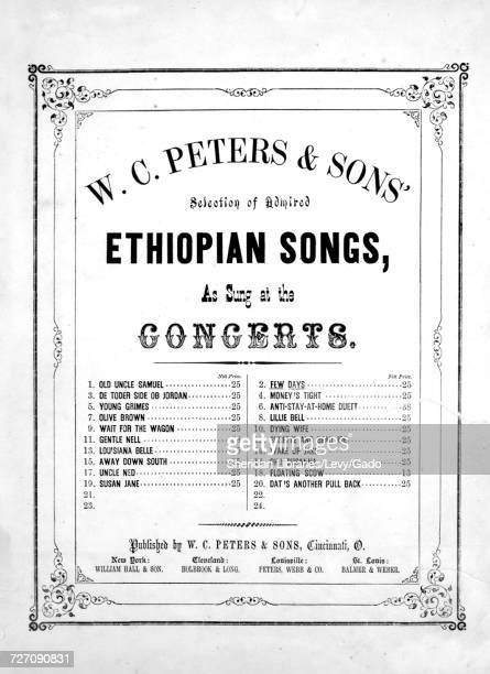 Sheet music cover image of the song 'WC Peters and Sons