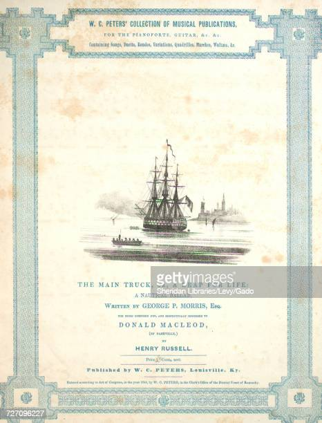 Sheet music cover image of the song 'WC Peters' Collection of Musical Publications for the Pianoforte Guitar Etc Etc The Main Truck or A Leap For...