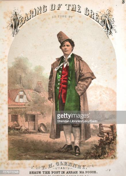 Sheet music cover image of the song 'Wearing of the Green' with original authorship notes reading 'By Dion Boucicault and EH House' United States...