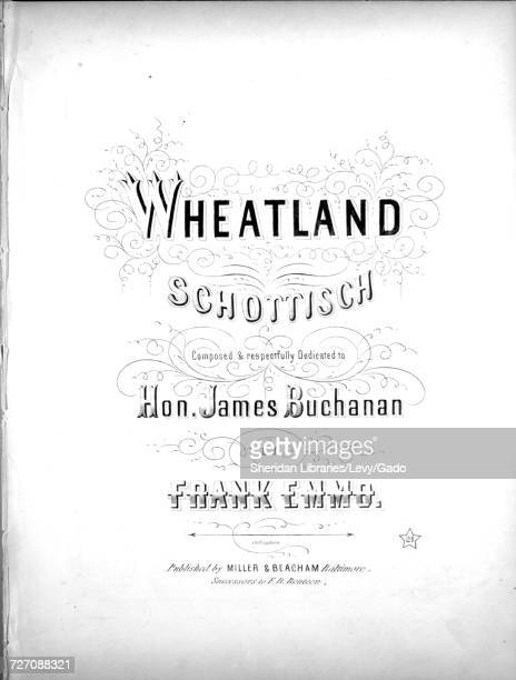 Sheet music cover image of the song 'Wheatland Schottisch' with original authorship notes reading 'Composed by Frank Emmo' United States 1900 The...
