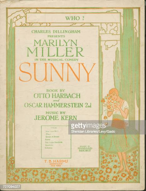 Sheet music cover image of the song 'Who' with original authorship notes reading 'Words by Otto Harbach and Oscar Hammerstein IInd Music by Jerome...