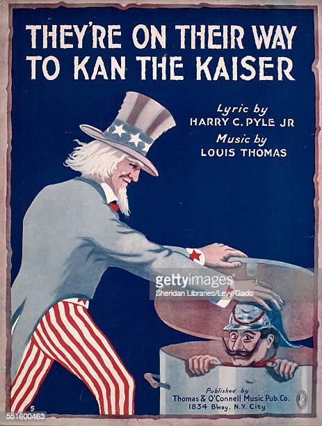 Sheet music cover image of 'They're on Their Way to Kan the Kaiser' by Harry C Pyle Jr and Louis Thomas New York New York 1917
