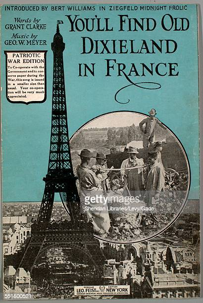 Sheet music cover image of 'You'll Find Old Dixieland in France Patriotic War Edition' by Grant Clarke and Geo W Meyer with lithographic or engraving...
