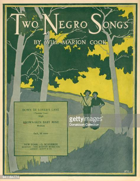 Sheet music for 'Two Negro Songs by Will Marion Cook Down De Lover's Lane and BrownSkin Baby Mine' which was published in 1902
