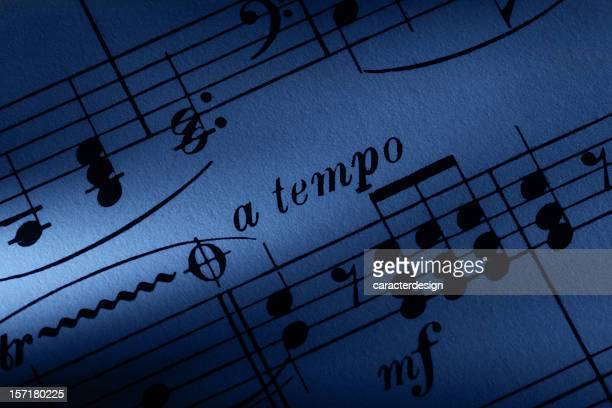 sheet music macro - gewalt stockfoto's en -beelden