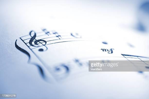 Sheet music notes macro