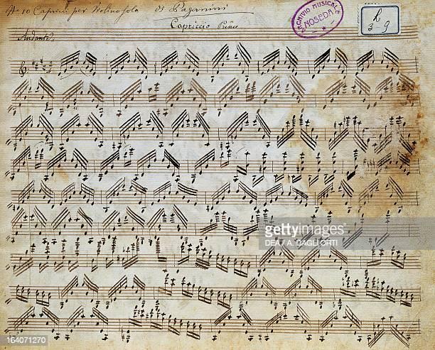 Sheet music of Capricci for violin solo by Niccolo' Paganini Milan Biblioteca Del Conservatorio 'Giuseppe Verdi'