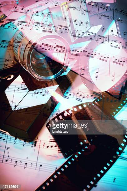 Sheet music on 16mm camera