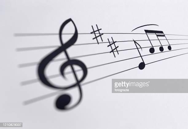 sheet music - opera lirica foto e immagini stock