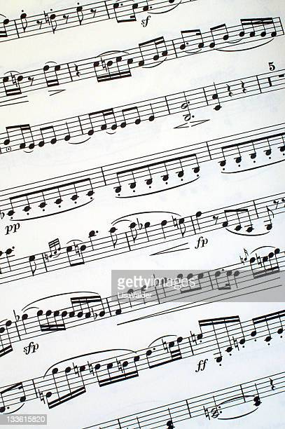 sheet music - beethoven stock pictures, royalty-free photos & images