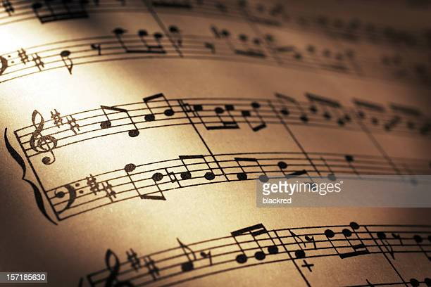 sheet music - wolfgang amadeus mozart stock pictures, royalty-free photos & images
