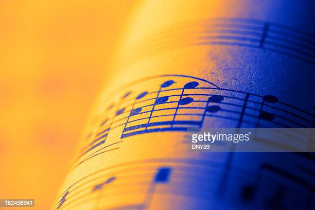 sheet music - musical note stock photos and pictures