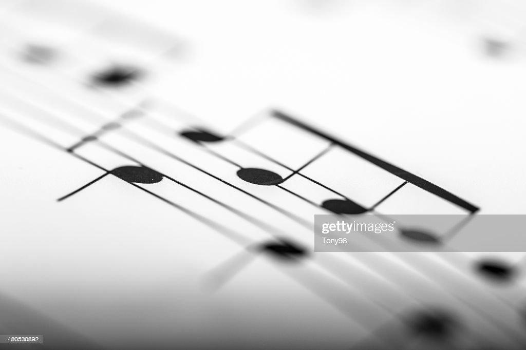 sheet music : Bildbanksbilder