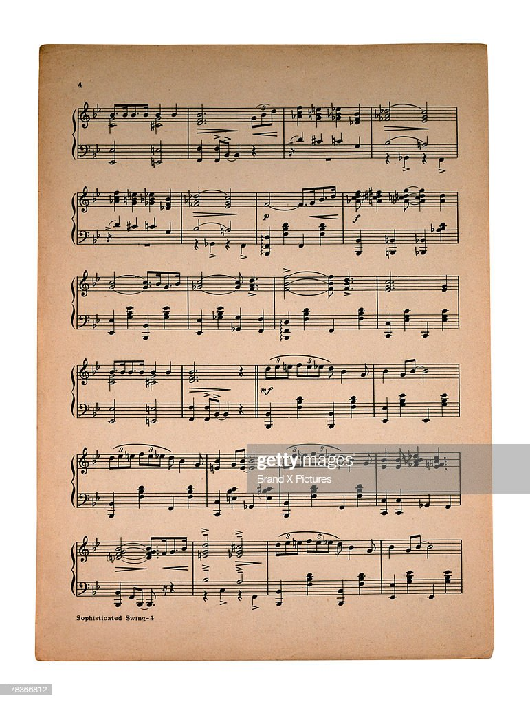 Sheet music : Foto de stock