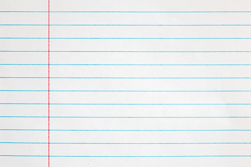 Sheet of looseleaf paper,detailed lined paper texture 527897414