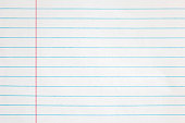 Sheet of looseleaf paper,detailed lined paper texture