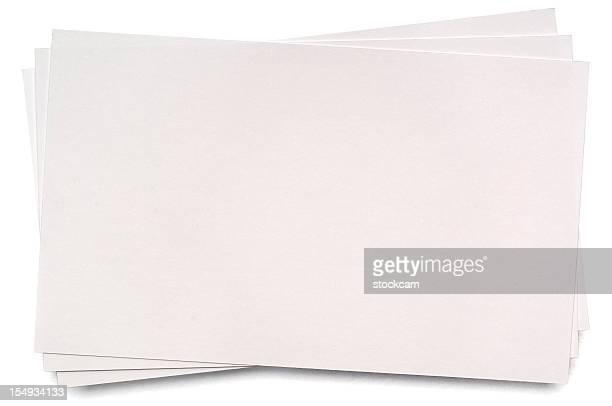 白い空白の索引カード - インデックスカード ストックフォトと画像