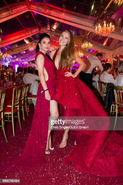 Sheetal Mafatlal and Victoria Swarovski attend the wedding of Victoria Swarovski and Werner Muerz on June 16 2017 in Trieste Italy