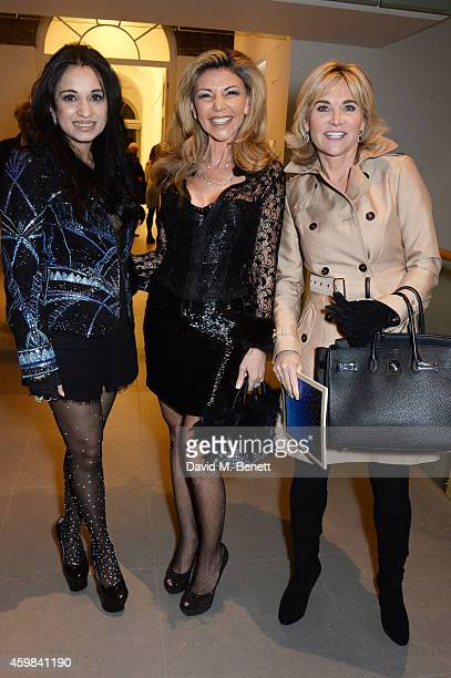 Sheetal Mafatlal Lisa Tchenguiz and Anthea Turner attend a private view of 'And The Stars Shine Down' by Stasha Palos at the Saatchi Gallery on...