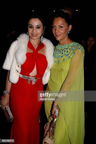 Sheetal Majatlal and Princesse Hermine de Clermont Tonnerre attend the Cinema Verite Award Ceremony hosted by Queen Noor of Jordan and Meg Ryan at...