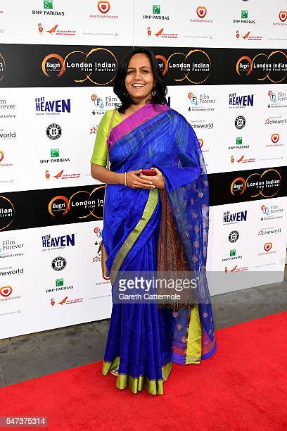 Shefali Bhusan arrives at the opening night of the London Indian Film Festival at Cineworld Cinemas on July 14, 2016 in London, England.