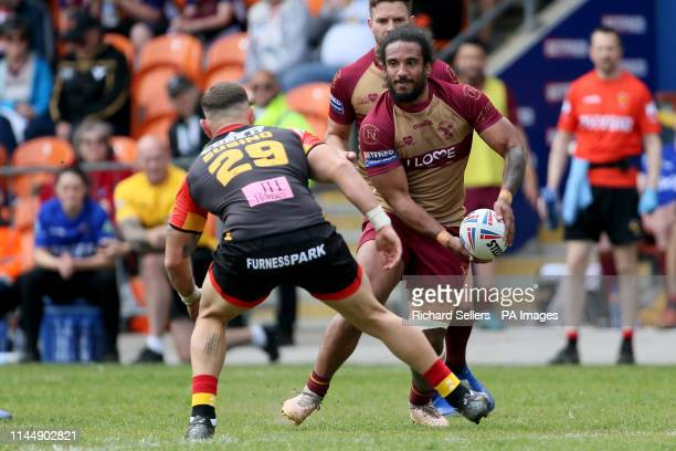 Sheffeld Eagles Joel Farrell in action during the Betfred Championship Summer Bash match at Bloomfield Road Blackpool