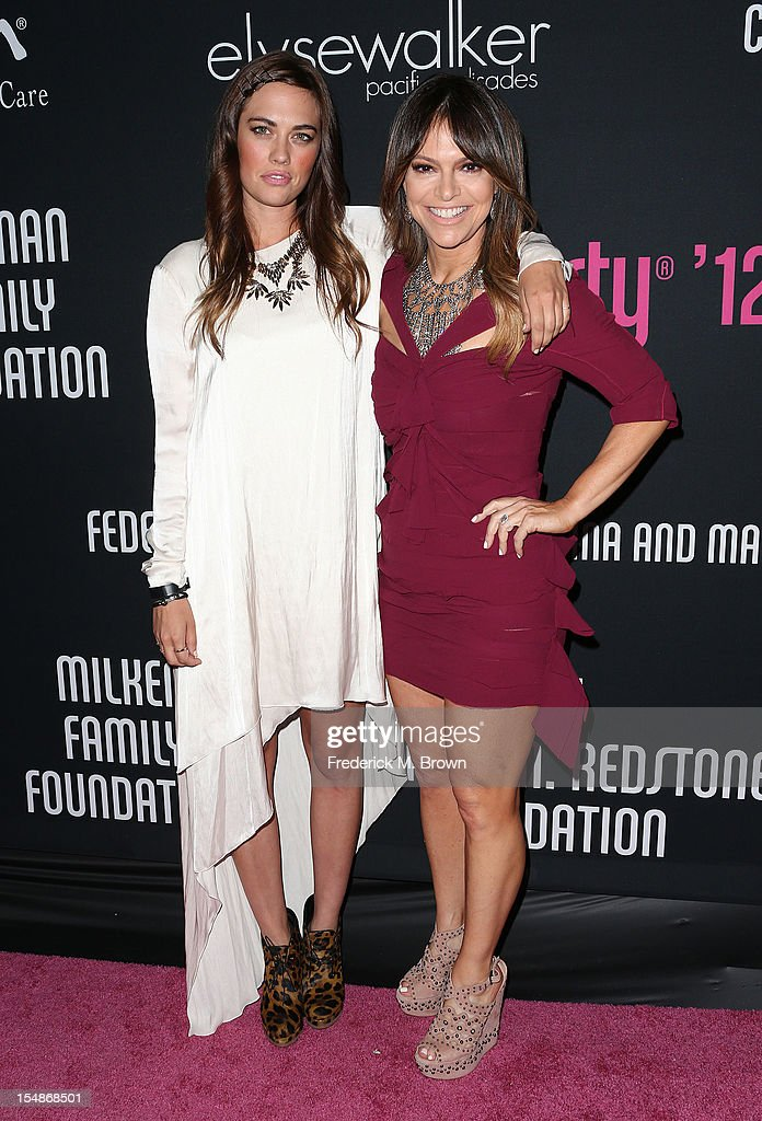 D.J. C. C. Sheffield (L) and D. J. C. C. Sheffield attend Elyse Walker Presents The Eighth Annual Pink Party Hosted By Michelle Pfeiffer To Benefit Cedars-Sinai Women's Cancer Program at Barkar Hangar Santa Monica Airport on October 27, 2012 in Santa Monica, California.